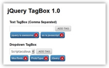 jQuery TagBox